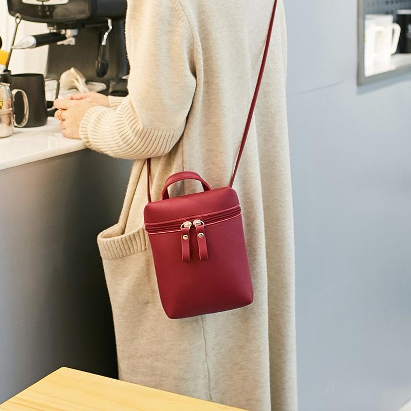 外贸手提手机包女士包包2019新款潮休闲单肩斜挎包水桶包一件代发