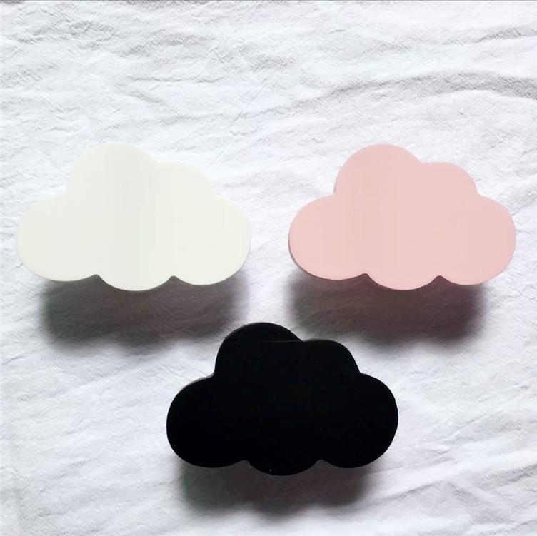 ins木质云朵挂钩儿童房童装店装饰墙贴北欧爆款