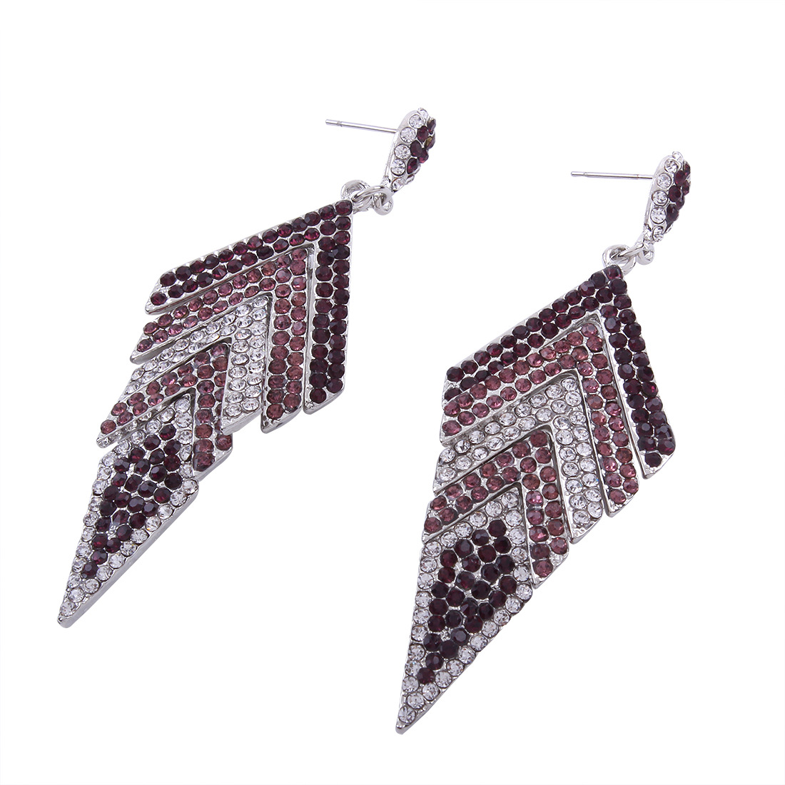 Occident and the United States alloy Diamond earring (color)NHNMD3785-color