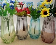 田园欧式玻璃花瓶现在简约精美花器干花摆件挂饰插花水培棱形花瓶