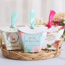 欧式婚礼糖盒纸盒创意小白熊个性结婚喜糖盒子批发喜糖袋婚庆用品