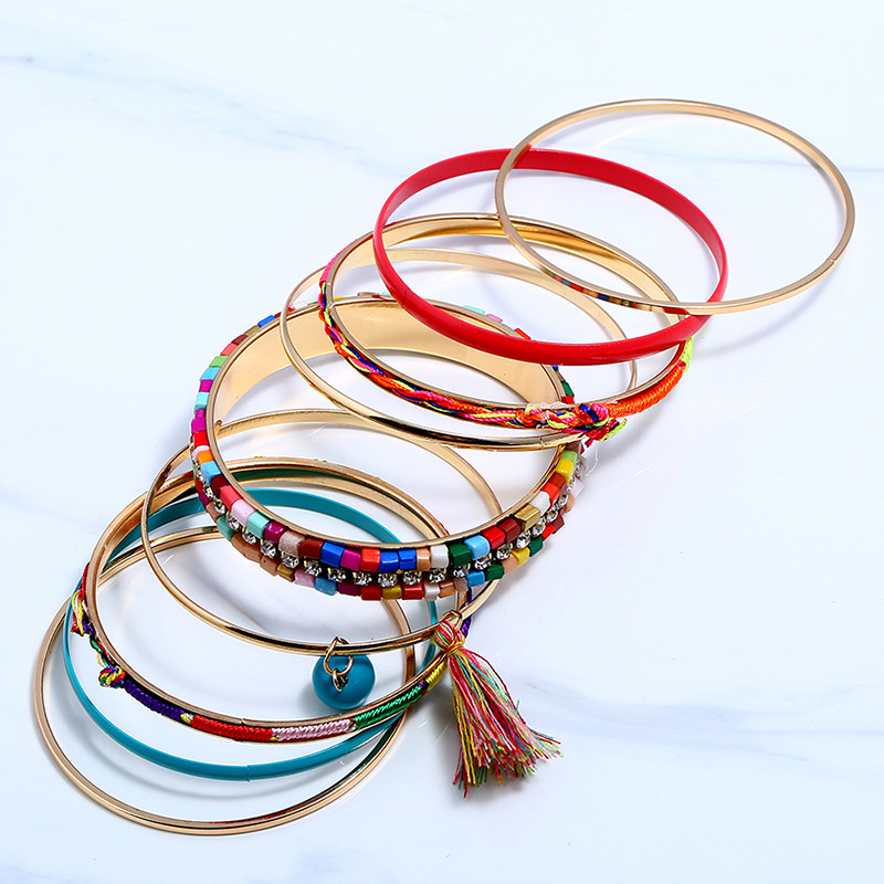 Occident and the United States alloy Diamond bracelet (Mixed color)NHNNZ3044-Mixed color