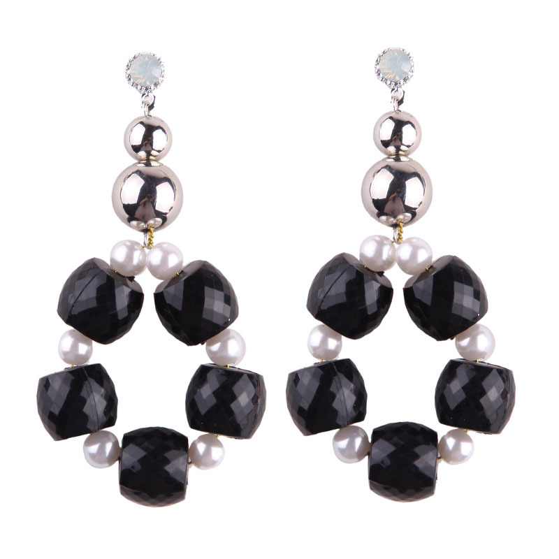 Cartoon alloy hand made earring (color)NHJQ9224-color