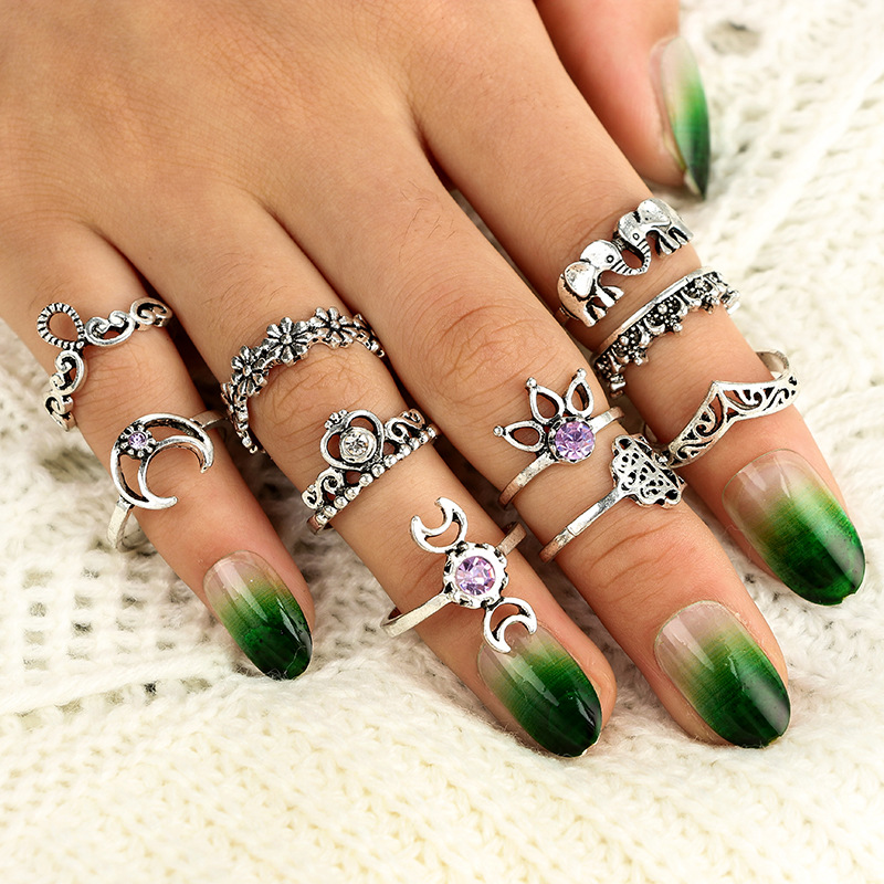 Retro alloy plating Jewelry Sets (Photo Color)NHGY0677-Photo Color