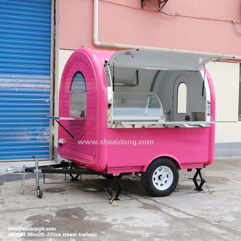 Race ice cream trailer