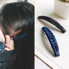 韩版时尚新款淑女手工布艺BB夹刘海发夹 女生常用扎头发边夹头饰