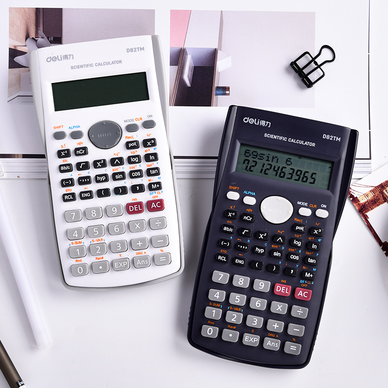 Promo Deli Multi Function Scientific Calculator Handheld Global Standard Calculators For Home Office Sch**l Bussiness Engineer Students Test Intl Tiongkok