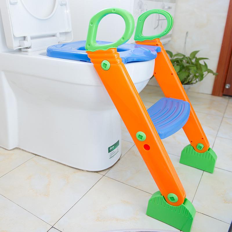 大号可折叠儿童马桶坐便器 小孩坐便器 ?#20449;?#23453;宝坐便梯 一件代发