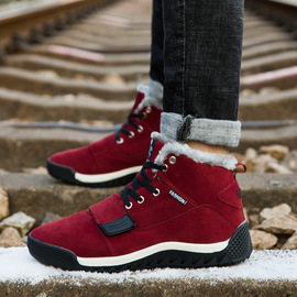 Autumn and winter fashion up to high boots snow boots barber cotton shoes men's large size  explosion