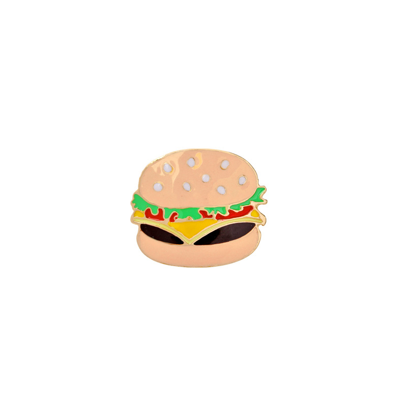 explosion models brooch creative cartoon cute brooch burger pizza hot dog eating suit brooch accessories wholesale nihaojewelry NHMO220252