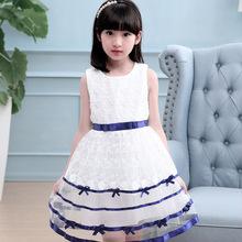 品牌童装韩版女童织带公主裙儿童蕾丝连衣裙纯棉宝宝裙子一件代发