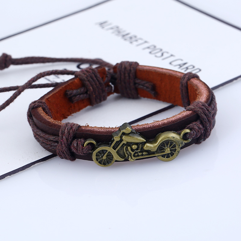 Simple Leather  Bracelet Geometric NHPK1142