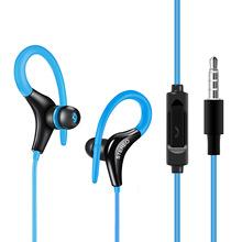 新款外贸通用带麦手机耳机 运动型入耳式耳机 挂耳式低音MP3耳机