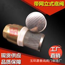 全黄铜底阀水泵底阀止回阀4立式单向阀4 6分内螺纹逆止阀DN15-100