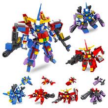 儿童玩具积木兼容乐高积木小颗粒拼搭拼装益智玩具变形男孩机器人