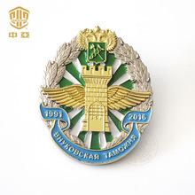厂家直供锌合金徽章金属胸章 旅游纪念精致立体浮雕胸针胸章定制