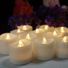 12个装跨境电子蜡烛灯 圣诞节蜡烛 婚礼装饰电子蜡烛 led发光蜡烛