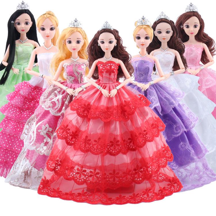 喜亚芭比换装娃娃衣服婚纱礼服全包大裙婚纱设计30厘米娃娃裙通用