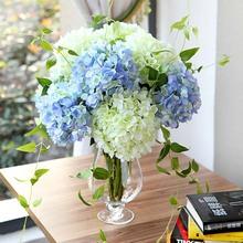 仿真绣球花 简约创意家居客厅仿真花批发艺术插花装饰花艺摆件