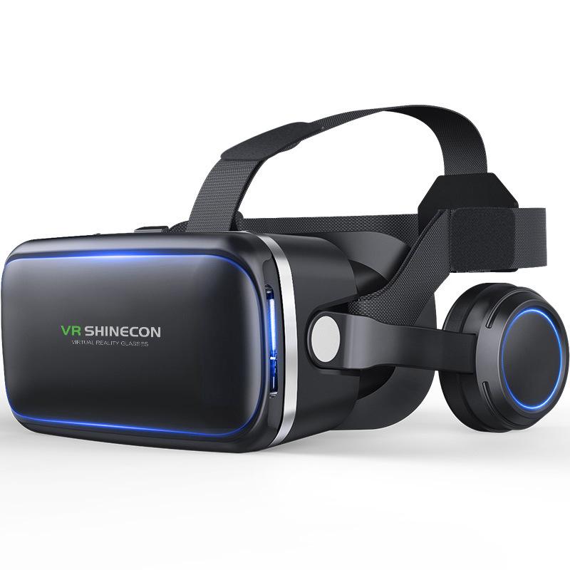 千幻六代vr眼镜3D虚拟现实G04E/A VR游戏机头戴耳机手机游戏手柄