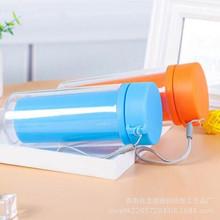 厂家供应透明塑料广告礼品杯定制创意精致双层保温便携隔热塑料杯