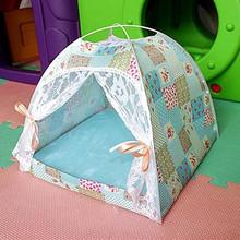 四季通用夏季透气帐篷狗窝猫窝带凉席宠物窝垫宠物用品一件代发