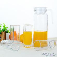 廠家直銷八角壺五件套 冷水壺套裝 夏季五件套 玻璃耐熱防燙壺