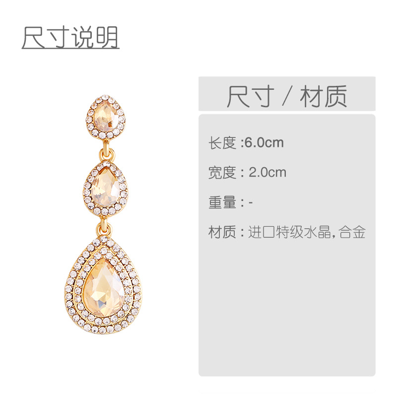 Imitated crystal&CZ Fashion Geometric earring  (red)  Fashion Jewelry NHAS0598-red