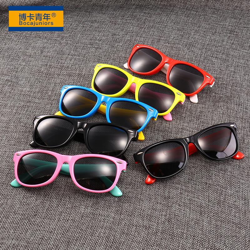 Silica Gel Fashion UV Protection Sunglasses Baby Glasses Polarized Children Sunglasses