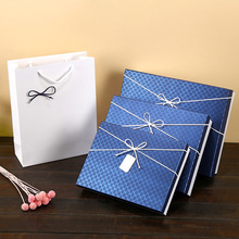 禮品盒長方形大號襯衫包裝盒創意粉色禮物盒牛皮紙盒禮盒定制現貨