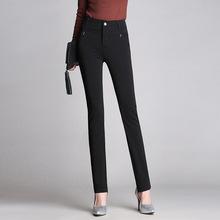 一件代发裤子女春秋季2020新款大码中年妈妈女裤修身直筒休闲长裤