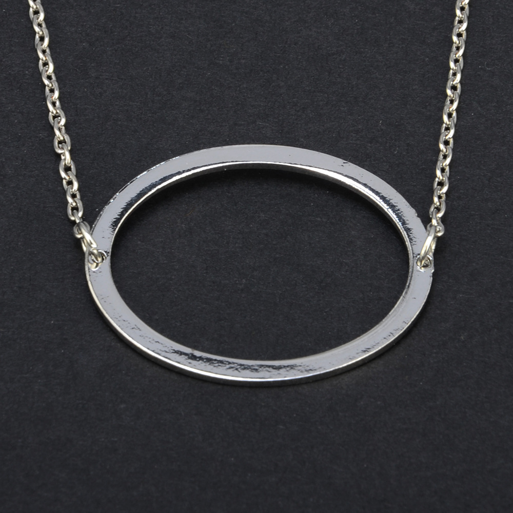 Fashion Alloy plating necklace(Silver A)NHAT0128-Silver A