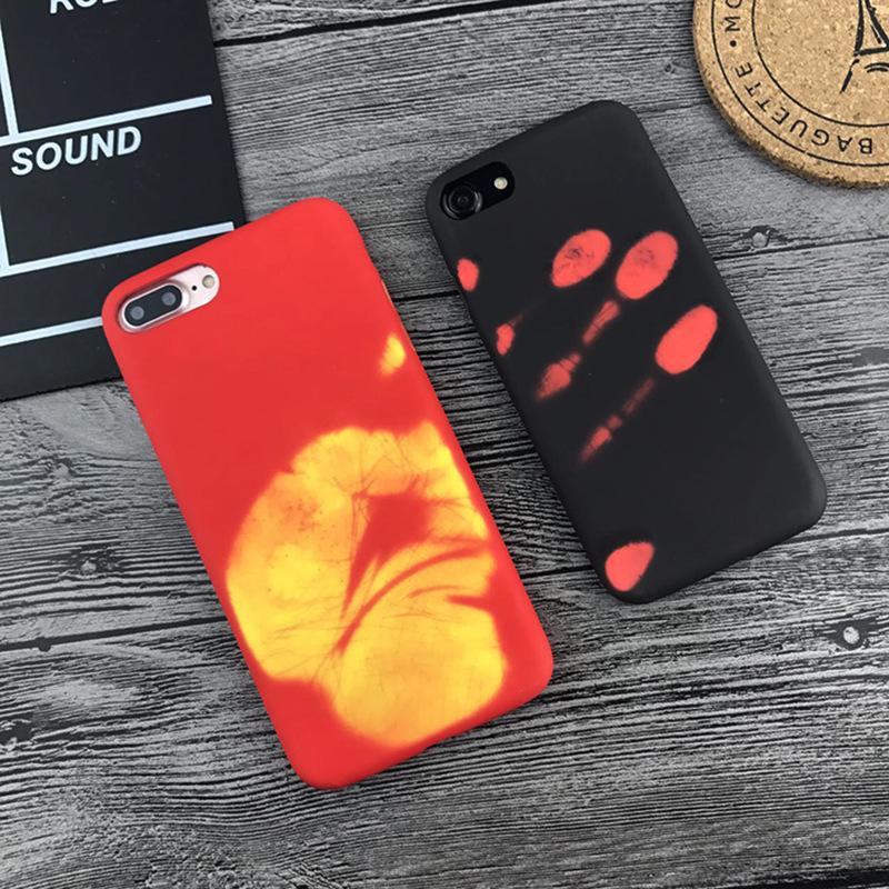 适用热感应变色手机壳7plus黑色iPhone6/6s 潮牌苹果硬壳iphone 7