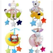 JJOVCE婴儿宝宝床铃0-1岁 发条音乐拉铃毛绒推车挂件3-12个月玩具