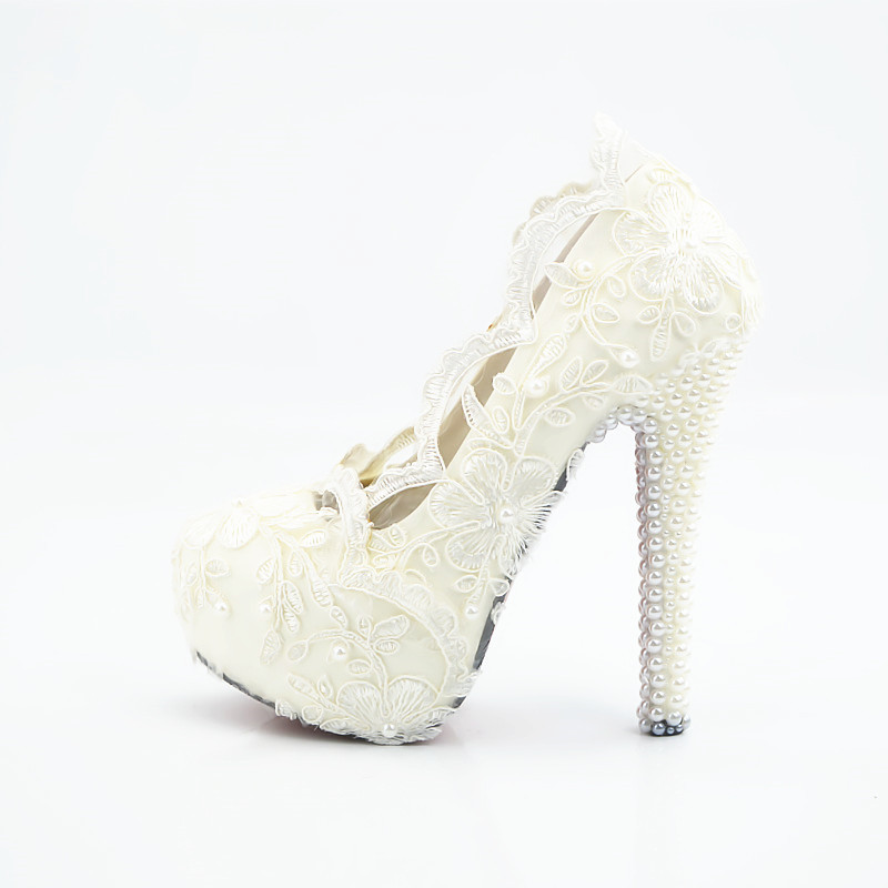 Lace edge high heels for bridal's main photo