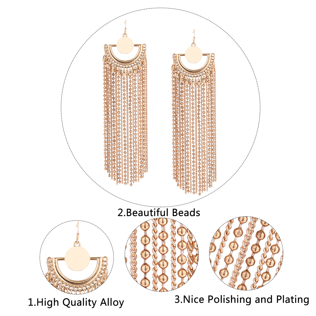 Occident and the United States alloy plating earring (White k)NHNMD3862-White k