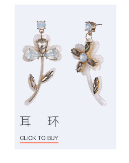 Occident and the United States alloy Diamond earring (Golden color)NHNTF1348-Golden color