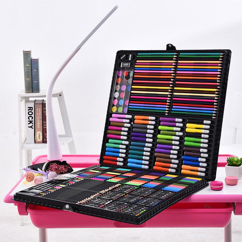 绘画套装 厂家直销288儿童绘画套装美术培训学校画笔水彩笔批发 阿里巴巴