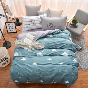 Ruyi rabbit home textile bedding all cotton twill active printing three pieces of pure cotton bed sheet four pieces of s