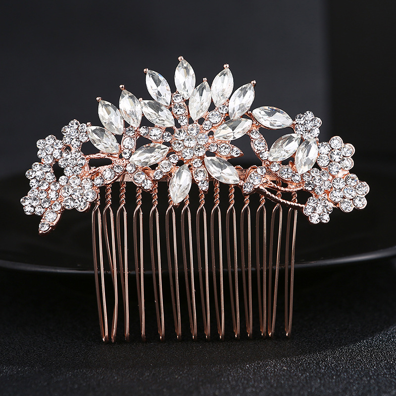 Alloy Korea Flowers Hair accessories  (Rose alloy) NHHS0342-Rose alloy