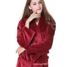 外貿原單情侶男女士珊瑚絨睡袍睡衣浴袍冬季溫泉特加厚大碼加長款