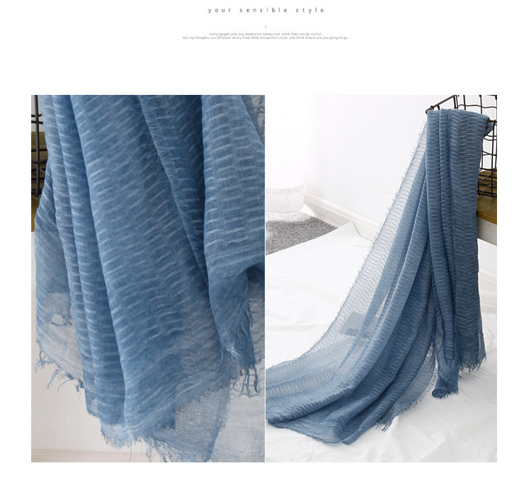 CottonPolyester scarf (Gray-180X90CM)NHNBS1810-Gray-180X90CM