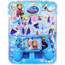 迪士尼兒童手柄水機游戲機卡通貼畫 冰雪奇緣蘇菲亞公主玩具貼紙