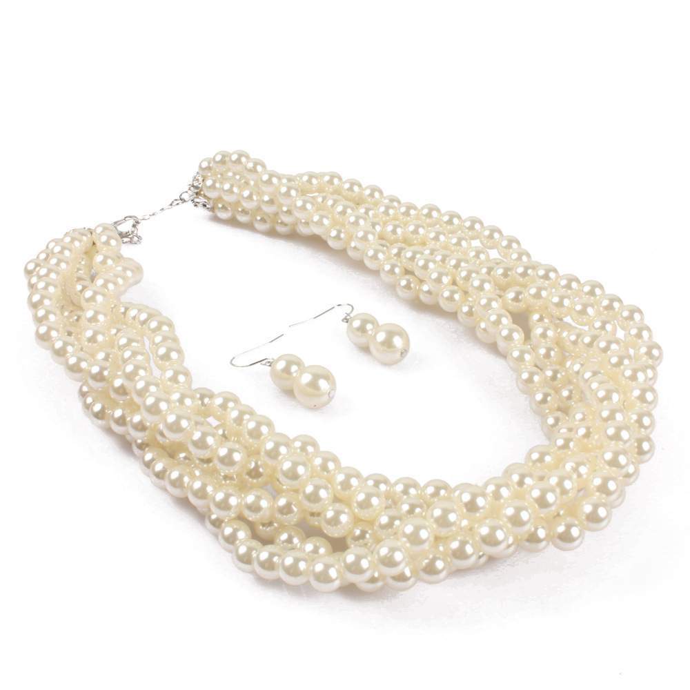 Occident and the United States pearlnecklace (gray)NHCT0085-gray