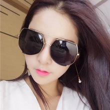 新款超大框太阳镜韩版明星网红同款男女士圆脸显瘦驾驶时尚墨镜
