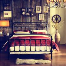定制欧式床1.2铁艺双人床公主床铁床 酒店床架1.5米1.8米厂家直销