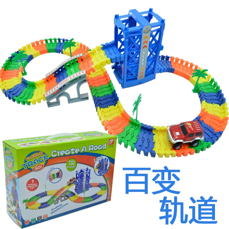 61 61 61 electric track toy car boys' track car versatile track children's toy wholesale 1306