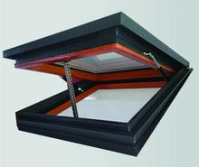 隔熱鋁木電動天窗 山東臨朐鋁合金門窗廠家加工定制遙控電動天窗