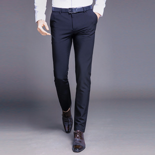 2021 Business Casual Straight Suit Pants Men's Casual Casual Pants Slim and Comfortable One Piece Non-iron Trousers