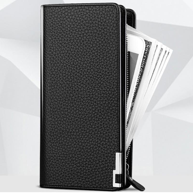 一件代发长款多功能拉链手拿包多卡位大容量小手包真皮男士钱包